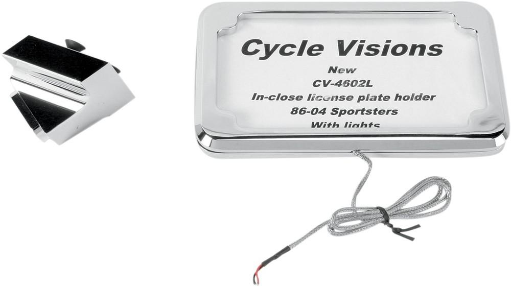CYCLE VISIONS サイクルビジョン ナンバープレートマウント ランプ付き 1986-04 XL 【MOUNT LP W/LT 86-04 XL [2030-0328]】