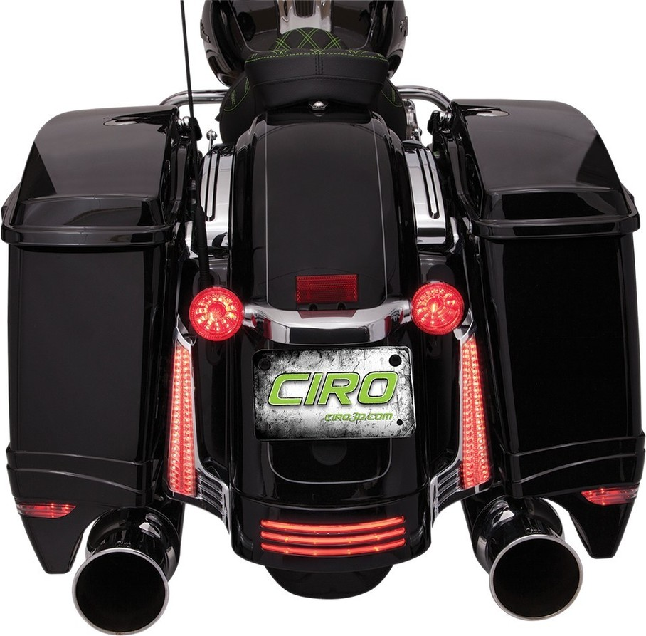 CIRO チロ マーカーライトS/B パネル クローム10-13 【LIGHT S/B PNL CHR 10-13 [2040-1930]】 Road Glide Custom - FLTRX 2010 - 2013 Street Glide (EFI) - FLHX 2010 - 2013
