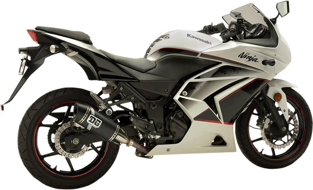 DG PERFORMANCE デージーパフォーマンス スリップオンマフラー V2モデル EX250 BK用 【EXHAUST V2 S/O EX250 BK [1811-3012]】 EX250R Ninja 2008 - 2012
