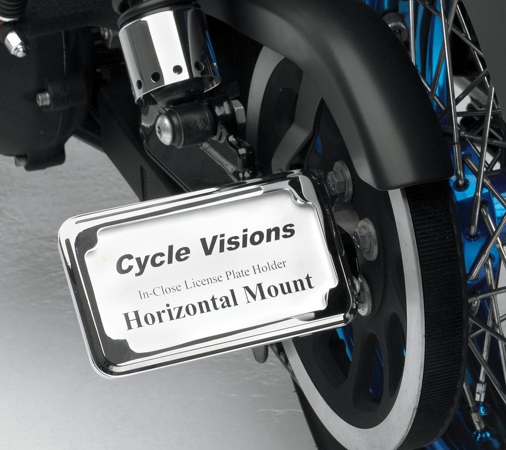 CYCLE VISIONS サイクルビジョン ナンバープレート関連 ナンバープレートフレーム H クローム XL 2005-用【FRAME LP H 05- XL CHR [2030-0923]】
