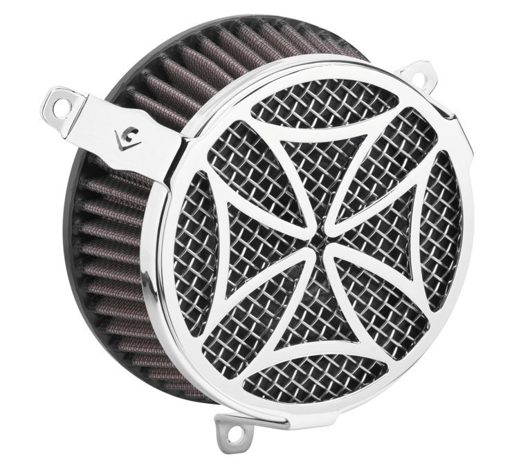 COBRA コブラ エアクリーナー・エアエレメント エアクリーナー V-TWIN【Air Cleaners for V-Twin】 Color:Chrome [631133]