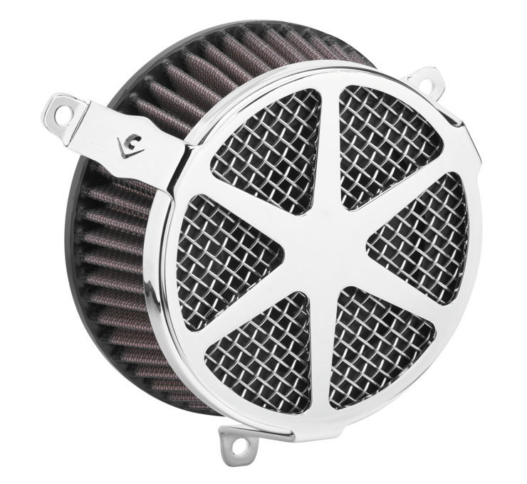 COBRA コブラ エアクリーナー・エアエレメント エアクリーナー V-TWIN【Air Cleaners for V-Twin】 Color:Chrome [633004]