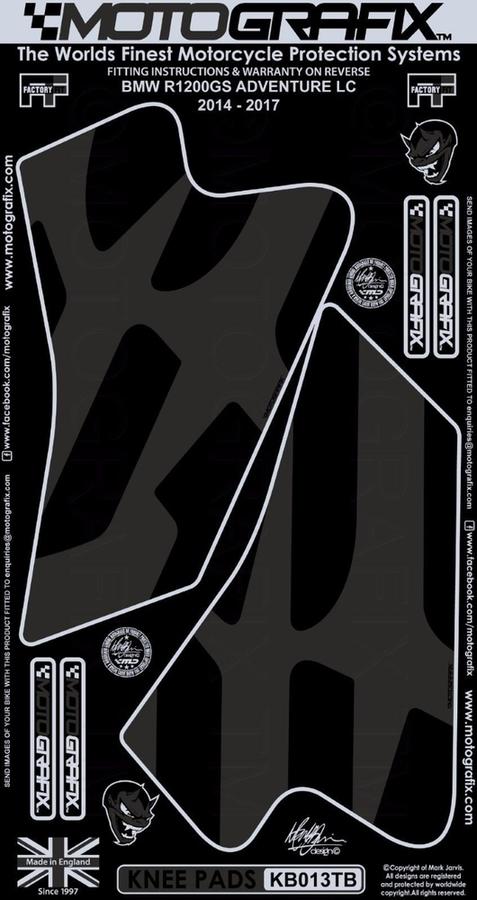 【在庫あり】MOTOGRAFIX モトグラフィックス ステッカー・デカール ボディーパッド カラー:グレー R1200 GS Adventure 14-