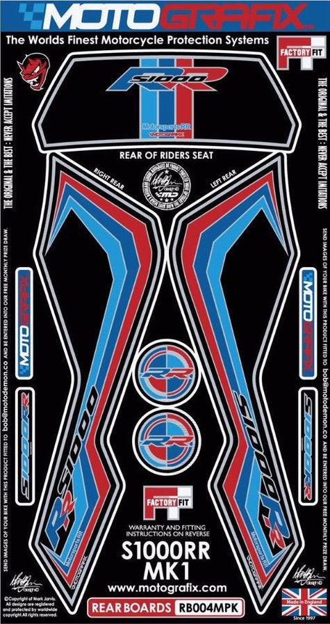 【ポイント5倍開催中!!】MOTOGRAFIX モトグラフィックス ステッカー・デカール ボディーパッド カラー:ブラック S1000RR
