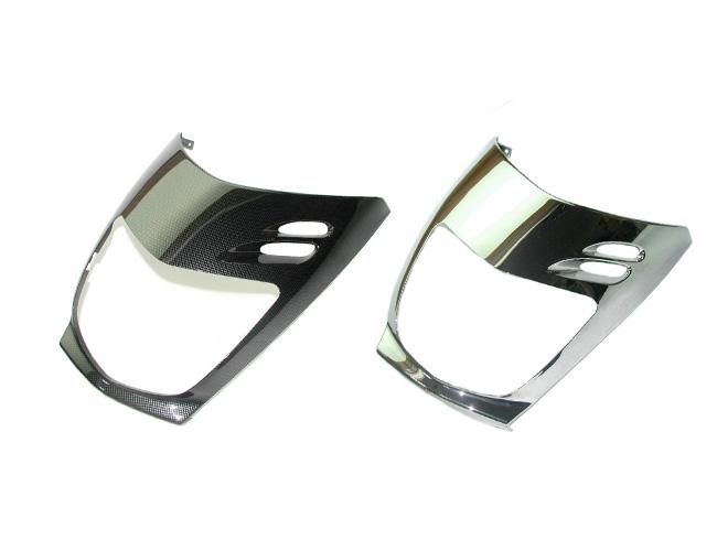 NHRC エヌエイチアールシー スクーター外装 ヘッドライトカバー Color:Carbon fiber pattern MAJESTY 125