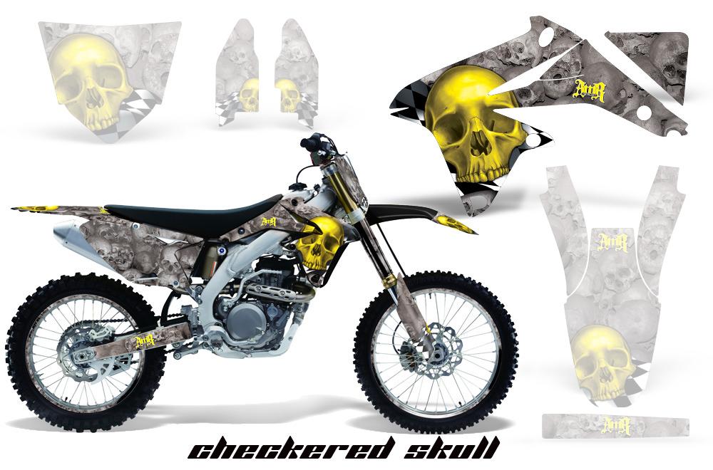 エーエムアール ステッカー・デカール AMR グラフィックデカール (シュラウドキット) グラフィックカラー:ホワイト KLX125 10-