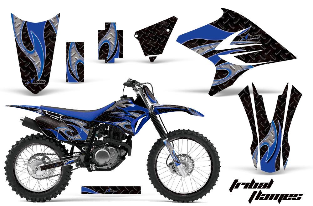 エーエムアール ステッカー・デカール AMR グラフィックデカール (シュラウドキット) グラフィックカラー:ブルー KLX250