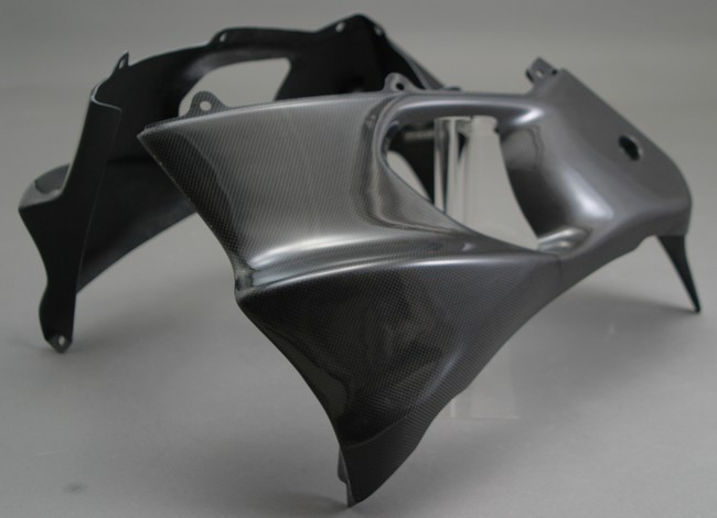 A-TECH エーテック Aテック サイドカバー ハーフサイドカウル 素材:カーボンケブラー (左右) ZZR1200 02-05