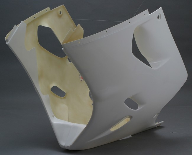A-TECH エーテック Aテック アンダーカウル ロアーカウル 素材:平織カーボン(右側) ZZR1100D