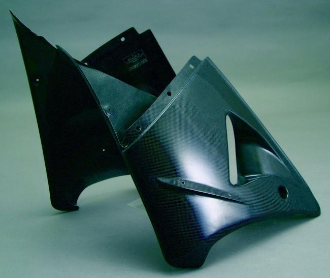 A-TECH エーテック Aテック サイドカバー ハーフサイドカウル 素材:FRP/白(右側) ZX-12R 00-01