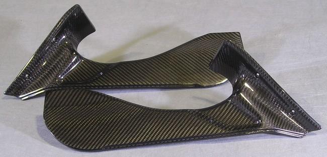 A-TECH エーテック Aテック アッパーカウルインナー 素材:ドライカーボン/塗装済(クリアー)(左右) 10- F4