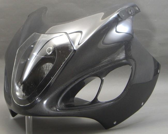 A-TECH エーテック Aテック アッパーカウルスタンダード ルナソーレ 素材:FRP/黒 GSXー1300 99-07