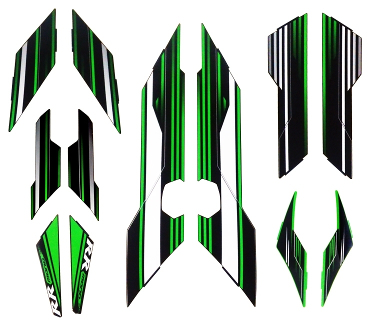 【ポイント5倍開催中!!】【クーポンが使える!】 K's-STYLE ケイズスタイル ステッカー・デカール デカールキット カラー:グリーン Ninja250SL