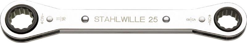 """STAHLWILLE スタビレー インチサイズ(ギアレンチ) 板ラチェットメガネ サイズ (""""):13/16x15/16"""