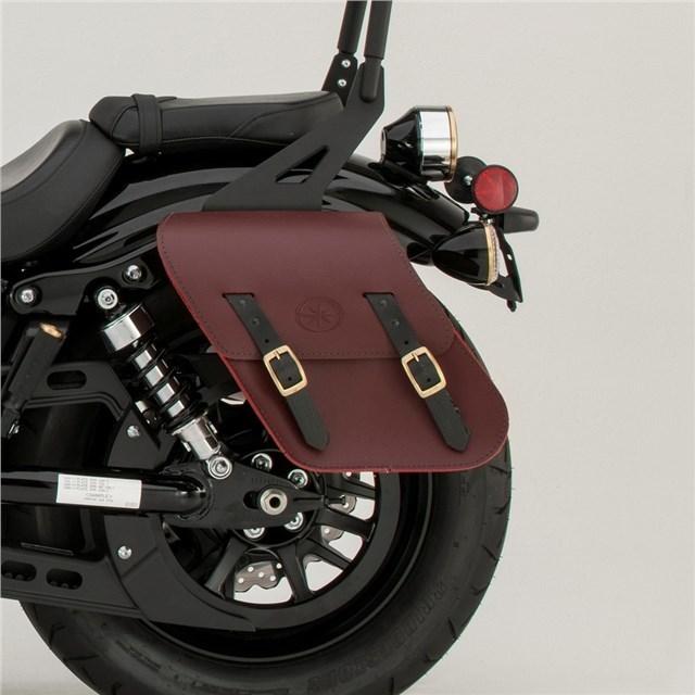 US YAMAHA 北米ヤマハ純正アクセサリー サドルバッグ・サイドバッグ リジッド マウント レザーサドルバッグ (Rigid-Mount Leather Saddlebags) Color:Oxblood