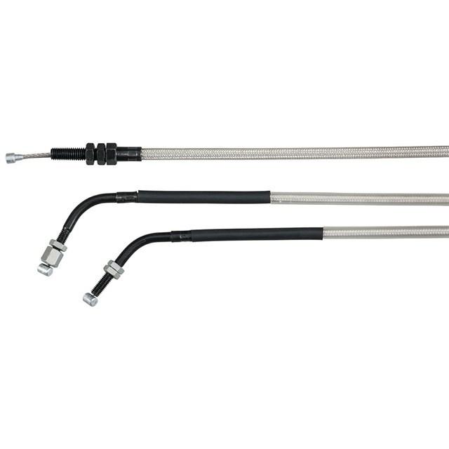 北米ヤマハ純正アクセサリー スタンダード長 メッシュステンレススチールコントロールケーブル (Standard Length Braided Stainless Steel Control Cables) Type:Throttle Cable