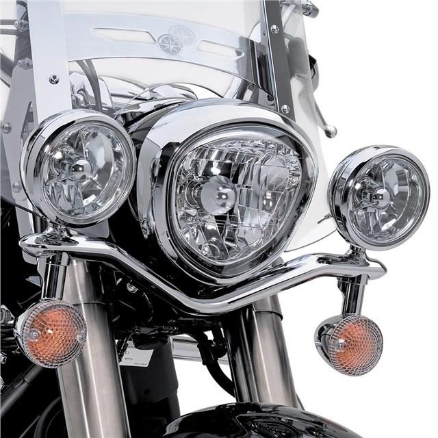 US YAMAHA 北米ヤマハ純正アクセサリー ヘッドライトステー・ブラケット クローム パッシングランプ マウント (Chrome Passing Lamp Mounts) ロイヤルスター1300