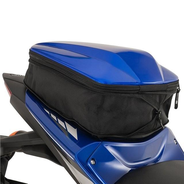 US YAMAHA 北米ヤマハ純正アクセサリー シートバッグ YZF-R3(R) リアシート カウル/バッグ (YZF-R3(R) Rear Seat Cowl/Bag) Color:Team Yamaha Blue
