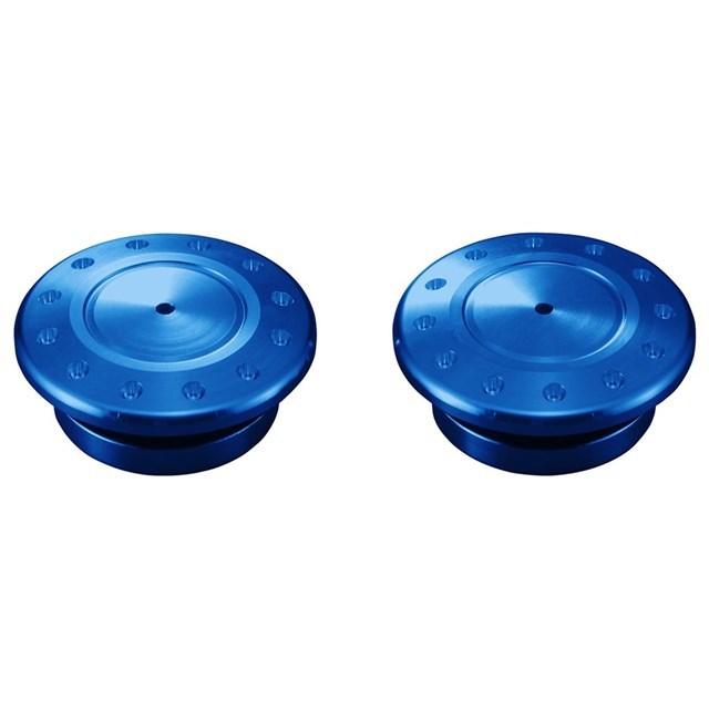 US YAMAHA 北米ヤマハ純正アクセサリー YZF-R3(R) スイングアームピボットカバー (YZF-R3(R) Swing Arm Pivot Covers) Color:Blue YZF-R3