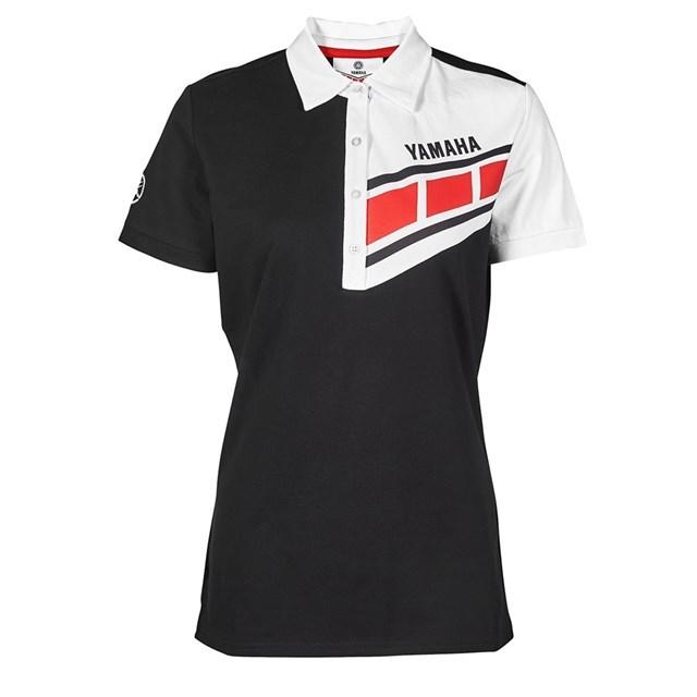 US YAMAHA 北米ヤマハ純正アクセサリー カジュアルウェア レディース YAMAHA クラシックスピードブロックポロ【Women's Yamaha Classic Speed Block Polo】 サイズ:LG