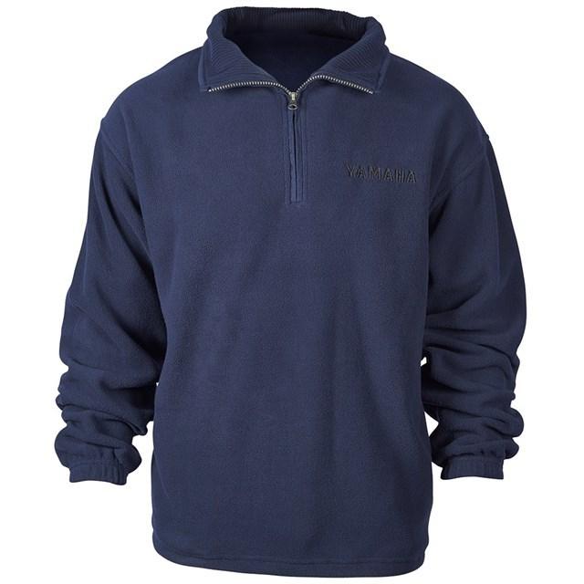 US YAMAHA 北米ヤマハ純正アクセサリー カジュアルウェア YAMAHA フリースクォータージッププルオーバー【Yamaha Fleece Quarter Zip Pullover】 サイズ:SM