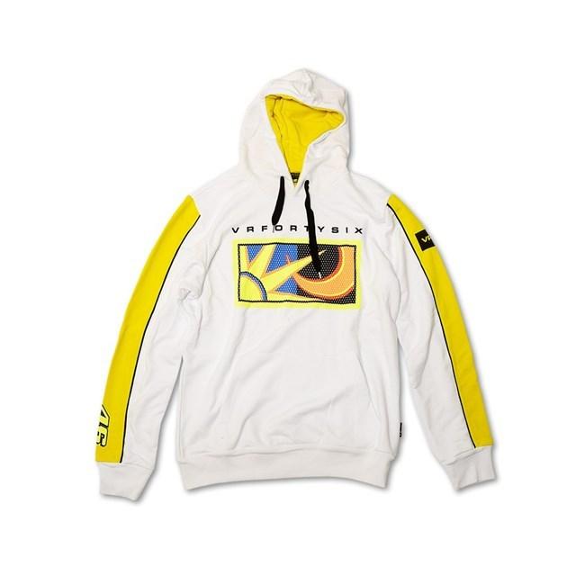 """US YAMAHA 北米ヤマハ純正アクセサリー カジュアルウェア """"VR/46(R) """"Sun and Moon"""" フーディースウェットシャツ【Sun and Moon Hooded Sweatshirt by VR/46(R)】 サイズ:LG"""