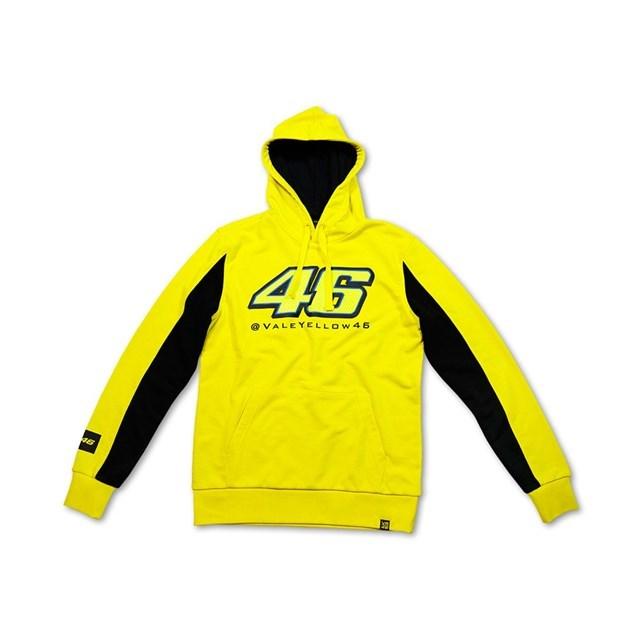 US YAMAHA 北米ヤマハ純正アクセサリー カジュアルウェア VR/46(R) 46 VALE YELLOW フーディー スウェットシャツ【46 Vale Yellow Hooded Sweatshirt by VR/46(R)】 サイズ:WH