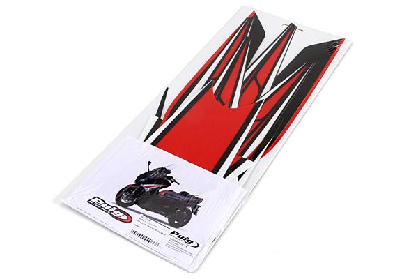 Puig プーチ ステッカー・デカール ステッカーキット カラー:レッド/ブラック TMAX530