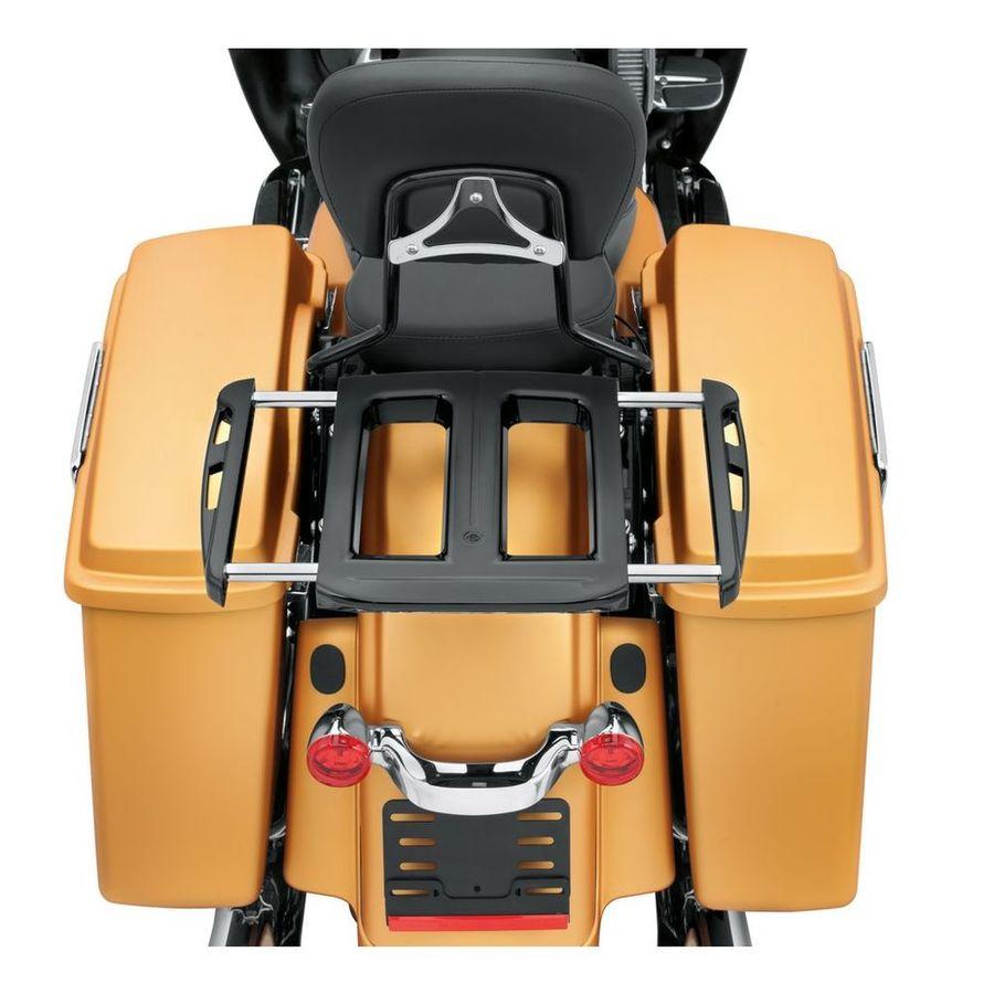 HARLEY-DAVIDSON ハーレーダビッドソン キャリア アジャスタブル 2アップ ラゲッジラック【Adjustable Two-Up Luggage Rack】 Color:Gloss Black