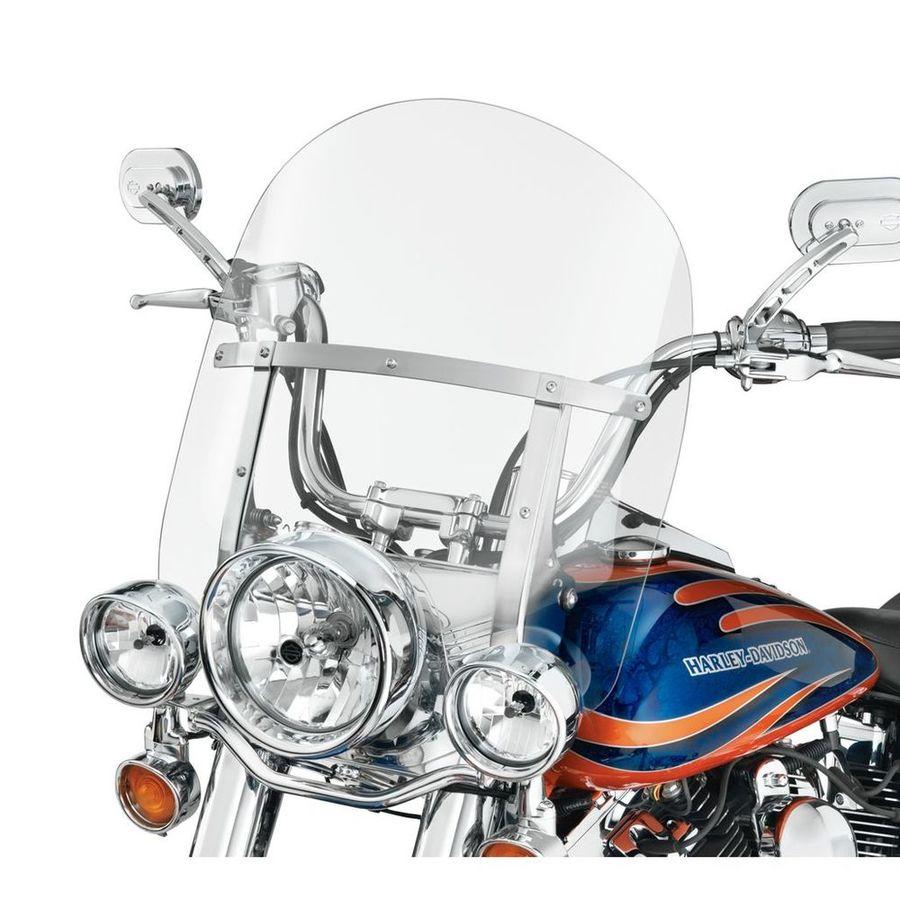HARLEY DAVIDSON ウインドシールド 着脱式 キングサイズ FL SOFTAIL モデル 18インチ用 クリア ポリッシュブレース【King-Size H-D Detachables Windshield for FL Softail Models - 18 in. Clear, Polished Braces】