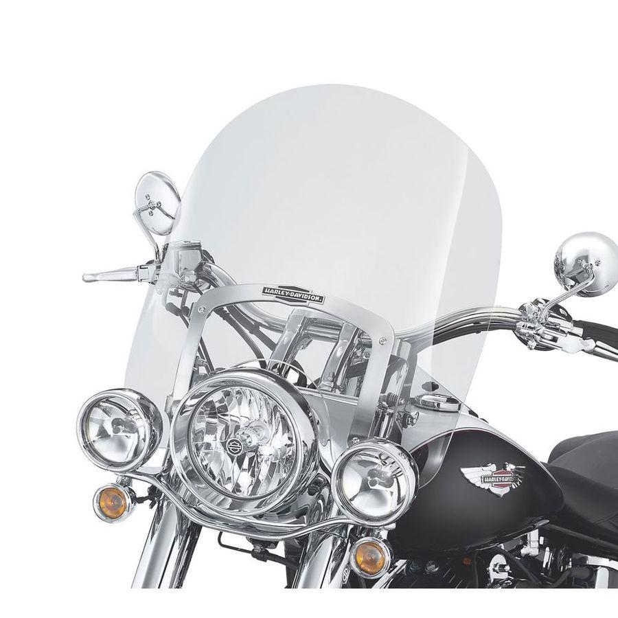 HARLEY DAVIDSON ノスタルジック ウインドシールド 着脱式 キングサイズ FL SOFTAIL モデル 18インチ用 ライトスモーク【King-Size Nostalgic H-D Detachables Windshield for FL Softail Models - 18 in. Light Smoke】