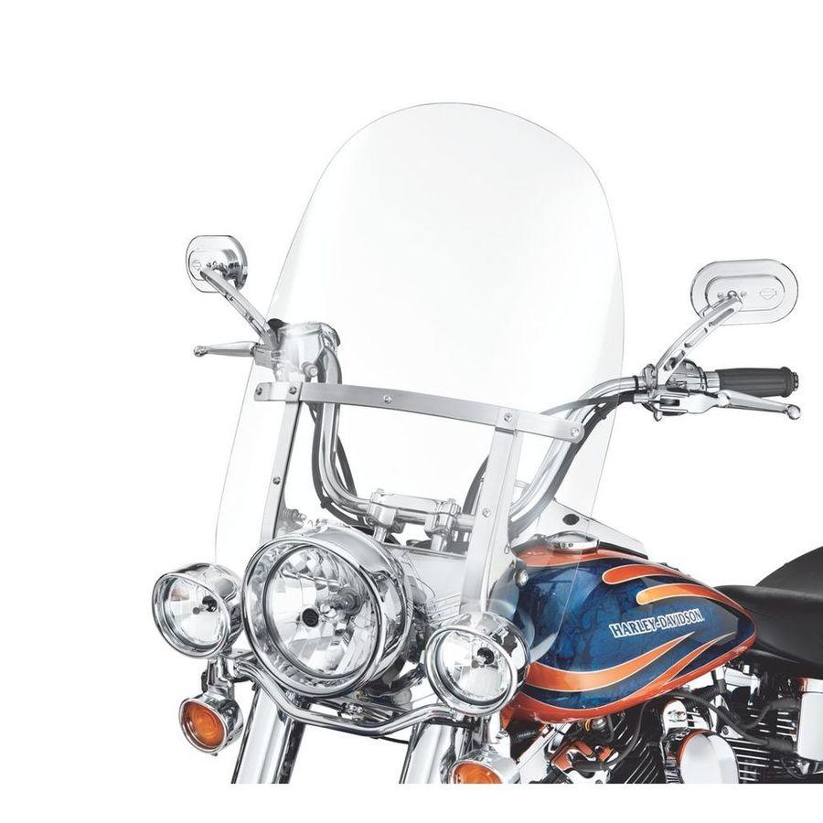 HARLEY DAVIDSON ウインドシールド 着脱式 キングサイズ FL SOFTAIL モデル 21インチ用 クリア ポリッシュブレース【King-Size H-D Detachables Windshield for FL Softail Models - 21 in. Clear, Polished Braces】