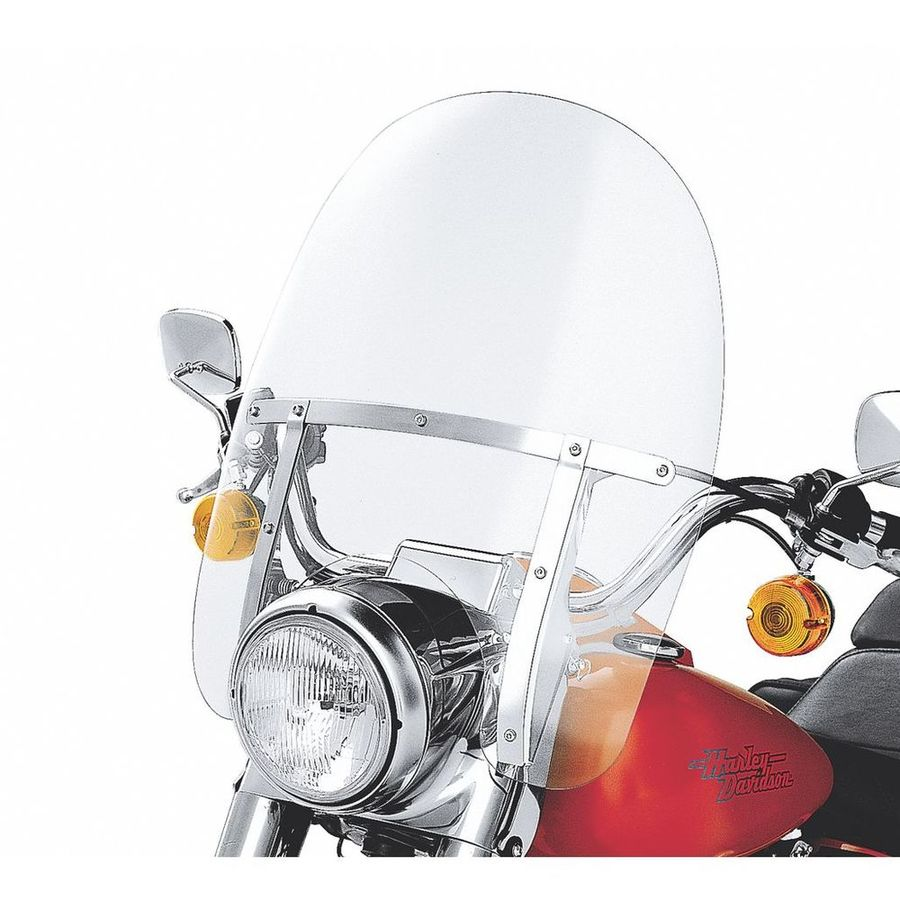 HARLEY DAVIDSON ウインドシールド 着脱式 キングサイズ ナセル装備 モデル用 サブランプ 19インチなし クリア【King-Size H-D Detachables Windshield for Nacelle Equipped Models without Auxiliary Lamps - 19 in. Clear】