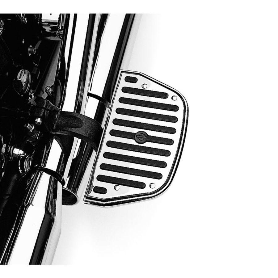 フットペグ・ステップ・フロアボード タンデムフットボードインサート トラディショナル形状 クローム/ラバー【Chrome and Rubber Passenger Footboard Inserts - Traditional Shape】