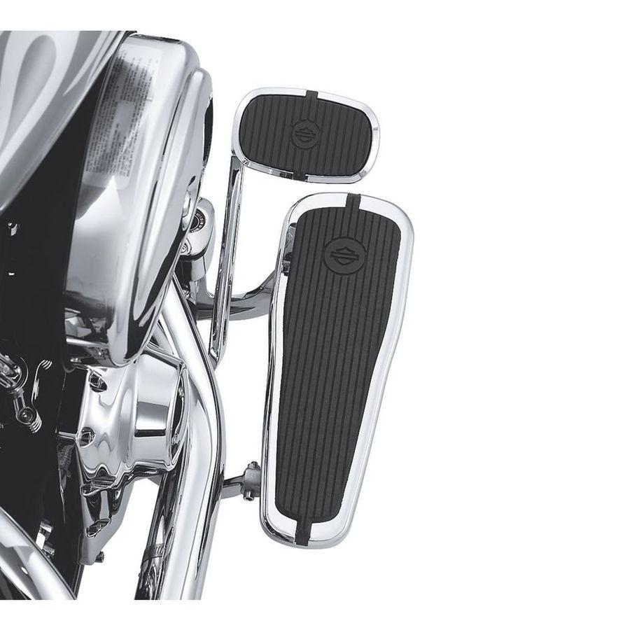 ハーレーダビッドソン テーパード ライダーフットボードキット クレステッドHARLEY-DAVIDSONインサート付き【Tapered Rider Footboard Kit with Crested Bar & Shield Insert】