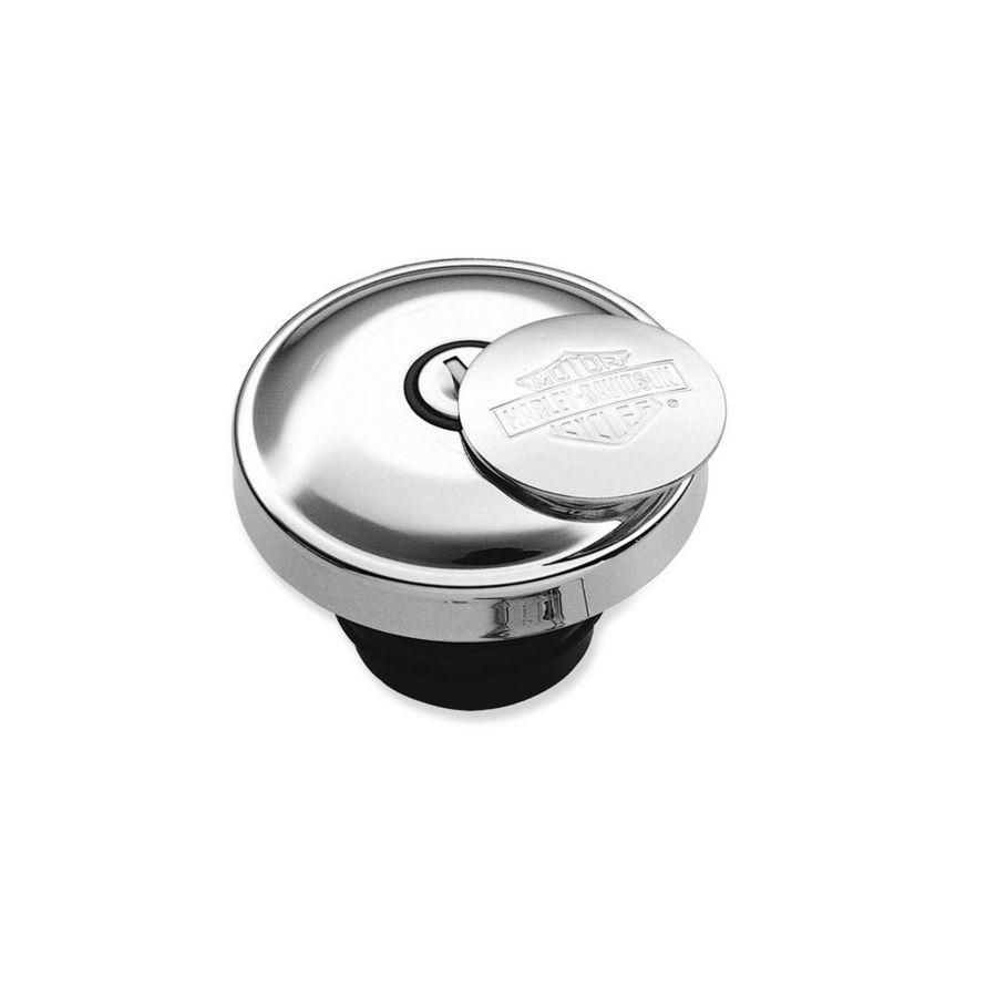 ハーレーダビッドソン タンクキャップ HARLEY-DAVIDSON セルフロッキング フュエルキャップ【Bar & Shield Self-Locking Fuel Cap】