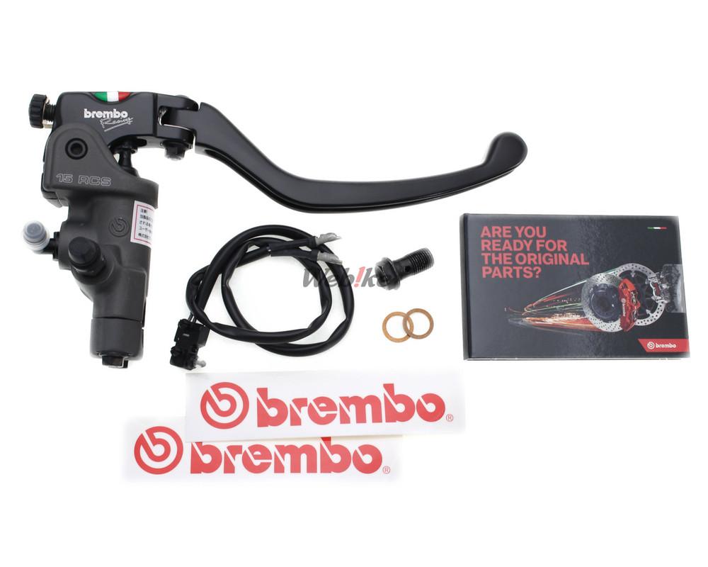 Brembo ブレンボ 15RCS ラジアルブレーキマスターシリンダー スタンダードレバー Scrambler 400 Scrambler 803 ER-6N Z 750 Scrambler Street Triple S 660 Street Triple S 765 FZ6 MT-03 XJ6