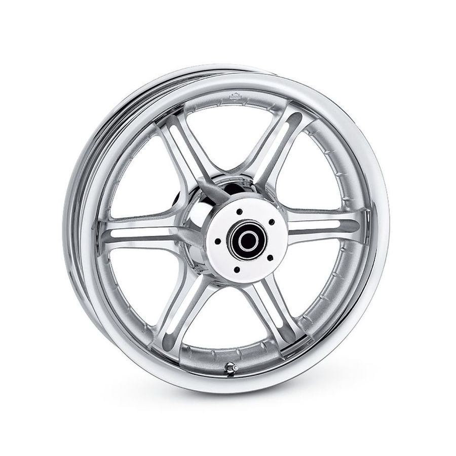 HARLEY-DAVIDSON ハーレーダビッドソン ホイール本体 スロット 6スポーク 16インチ フロントホイール【Slotted 6-Spoke 16 in. Front Wheel】 Color:Textured Chrome
