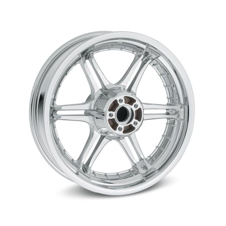 HARLEY-DAVIDSON ハーレーダビッドソン ホイール本体 スロット 6スポーク 17インチ リアホイール【Slotted 6-Spoke 17 in. Rear Wheel】 Color:Mirror Chrome