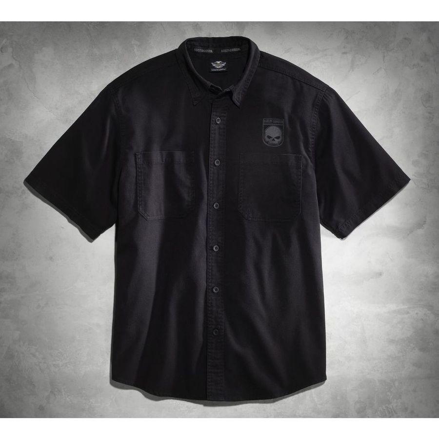 HARLEY-DAVIDSON ハーレーダビッドソン カジュアルウェア メンズ スカル シールドシャツ【Men's Skull Shield Shirt】 Size:TALL-3XL