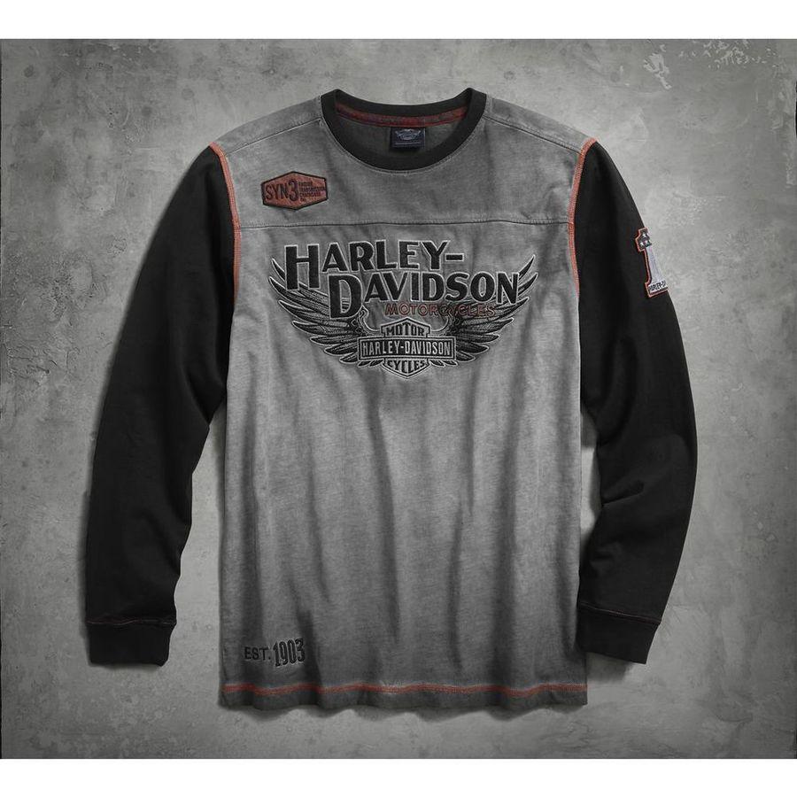 HARLEY-DAVIDSON ハーレーダビッドソン カジュアルウェア メンズ アイアンブロック プルオーバー【Men's Iron Block Pullover】 Size:3XL