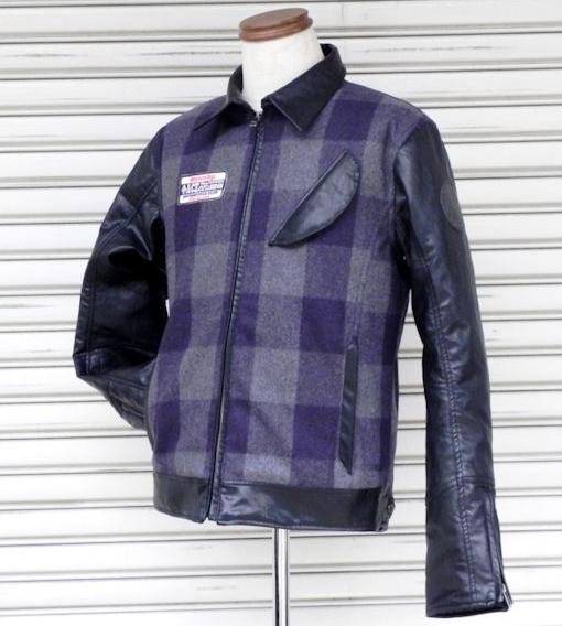 ACECAFE LONDON エースカフェロンドン ライディングジャケット SC ブロックチェック ライダースジャケット サイズ:XL