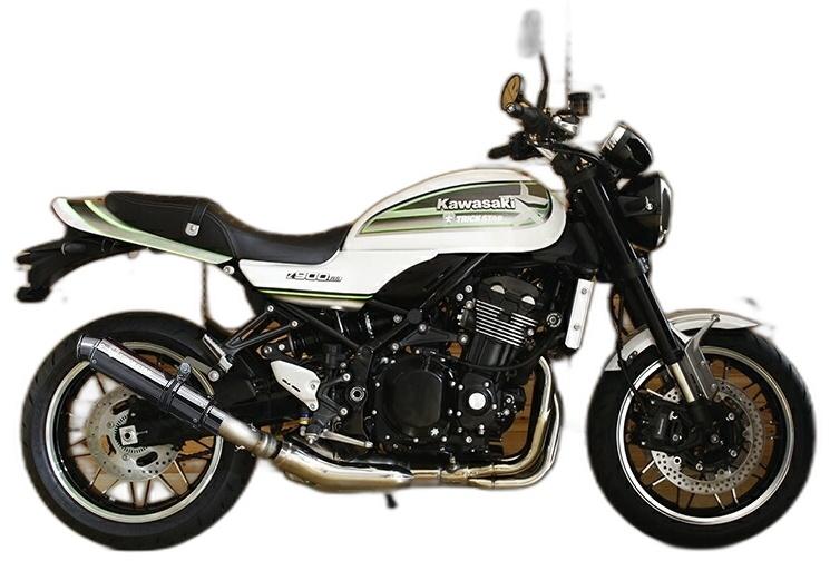 TRICK STAR トリックスター レーシングスリップオンマフラー ブラックメッキ Z900RS