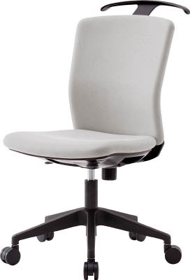 TRUSCO トラスコ中山 工業用品 アイリスチトセ ハンガー付回転椅子(フリーロッキング) グレー