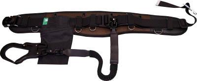 TRUSCO トラスコ中山 工業用品 KH フムヘム補助帯付安全帯 じゃばら駕王 剣フック 自在環 アロッキー 黒-茶