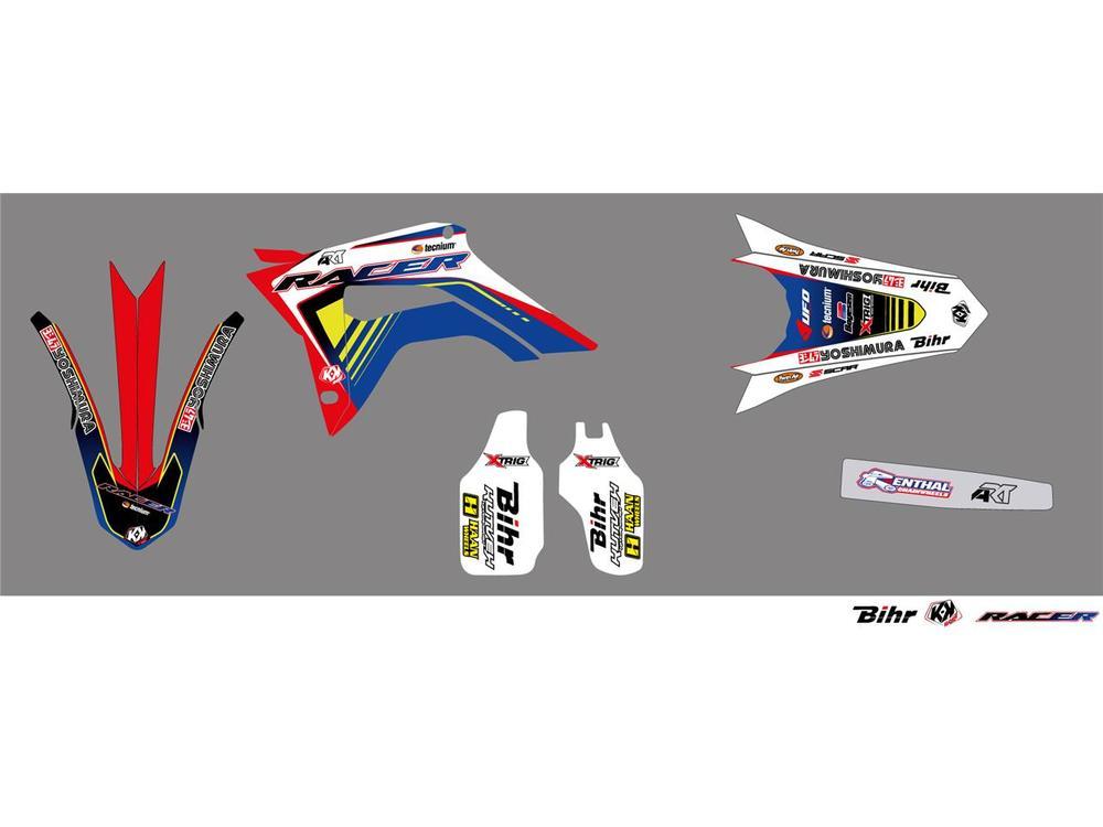 KUTVEK クヴェック ステッカー・デカール Racer Graphic Kit【ヨーロッパ直輸入品】 CRF250R (250) 18 CRF450R (450) 17-18