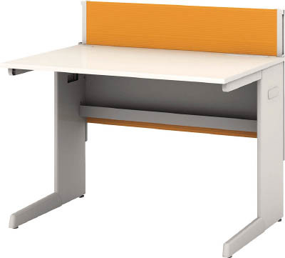 TRUSCO トラスコ中山 工業用品 アイリスチトセ デスクパネル・コンセント付デスク幅1000mm オレンジ