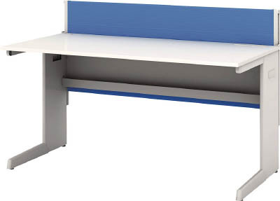 TRUSCO トラスコ中山 工業用品 アイリスチトセ デスクパネル・コンセント付デスク幅1400mm ブルー
