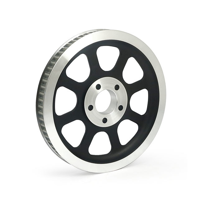 MCS エムシーエス ホイール関連パーツ REPRODUCTION OEM STYLE WHEEL PULLEY COLOR:BLACK 00-06 SOFTAIL(NU)(EXCL. FXSTD/I)