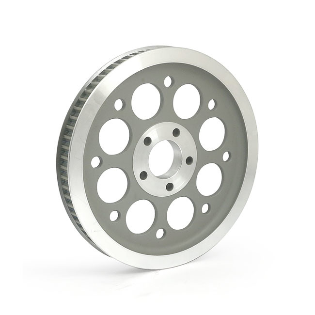 MCS エムシーエス スイングアーム 純正スタイル ホイールプーリー【REPRODUCTION OEM STYLE WHEEL PULLEY】 COLOR:SILVER 00-05 DYNA(NU)